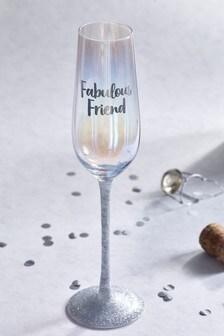 Pohár na šampanské s nápisom Fabulous Friend