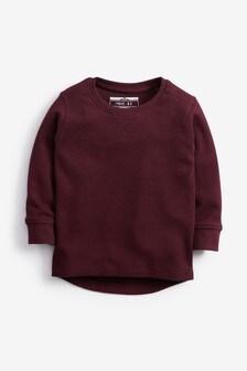 Textúrované tričko s dlhými rukávmi (3 mes. – 7 rok.)