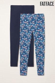 FatFace - Confezione da due leggings blu con stampa di api