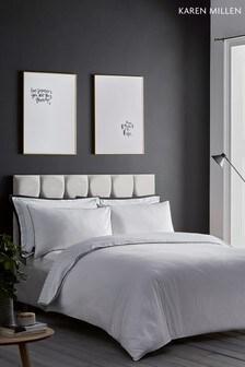 Karen Millen Herringbone Cotton Duvet Cover and Pillowcase Set