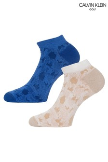 Calvin Klein Golf Cream Kosi Tech Socks 2 Pack