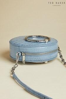 Ted Baker Millah Exotische Leder-Umhängetasche, Blau