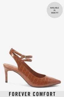 Туфли с открытой пяткой и ремешком вокруг щиколотки