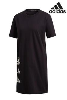 Платье-футболка с 3 логотипами adidas