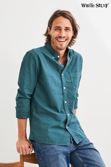 White Stuff藍綠色Formby Oxford襯衫