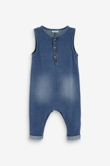 Короткий джинсовый комбинезон (0 мес. - 3 лет)