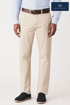 Crew Clothing Company Cream Straight Chinos