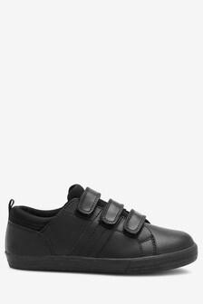 Кожаные кроссовки с тремя ремешками (Подростки)