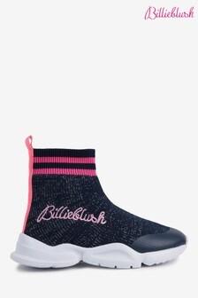 Billieblush Navy Sock Trainers
