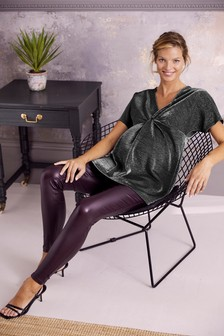 Зауженные джинсовые леггинсы с узким поддерживающим поясом для беременных