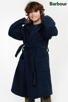 Barbour® Boys Navy Lucas Dressing Gown