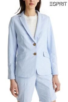 Esprit Blue Woven Blazer