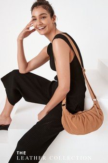 Suede Ruched Bag