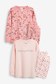 2 Pack Ditsy Legging Pyjamas (3-16yrs)