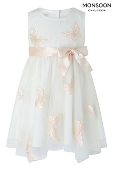 Monsoon Cream Baby Molly Butterfly Dress