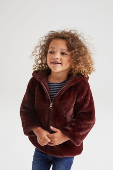 Character Faux Fur Jacket (12 мес. - 7 лет)