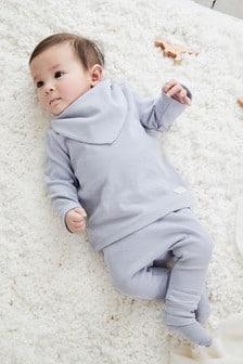 סט 4 חלקים חולצת טי מריב וטייץ (0 חודשים עד גיל 2)