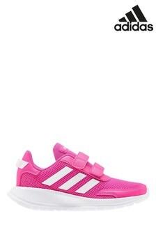 Розовые/белые детские кроссовки adidas Tensaur