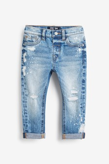 Distressed Paint Splat Jeans (3mths-7yrs)