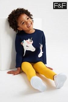 F&F Kids Multi Unicorn Sweat And Legging Set