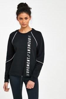 Langärmeliges Sweatshirt mit Schriftzug