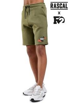 Pantaloni scurți din jerseu cu model camuflaj și accente de culoare Rascal F2 culori vii