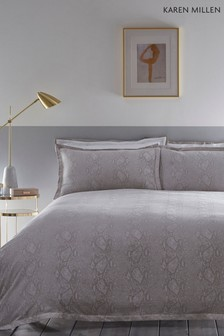 Karen Millen Snakeskin Cotton Duvet Cover and Pillowcase Set