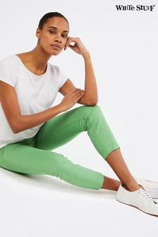 White Stuff Green Jade Cropped Jeans
