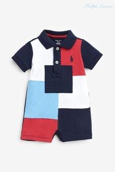 Разноцветный комбинезон с логотипом Ralph Lauren