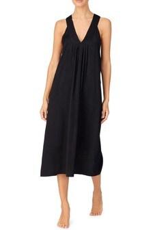 שמלת מקסי  של Donna Karan בצבע שחור