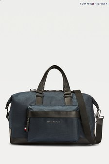 Tommy Hilfiger Blue Elevated Nylon Duffle Bag