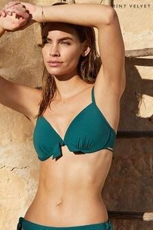 Mint Velvet diepuitgesneden bikinitop