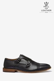 Leather Toe Cap Monk Shoes