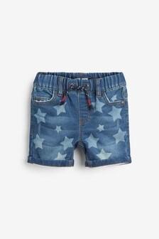 מכנסי ג'ינס קצרים מג'רסי (3 חודשים-7 שנים)
