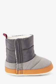Colourblock Pram Snow Boots (0-24mths)