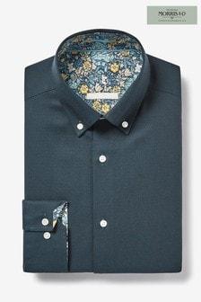 Camisa ribeteada con detalle insignia de Morris & Co at Next