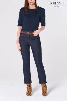 חולצת ג'רזי של L.K. Bennett דגם Saigon בצבע כחול