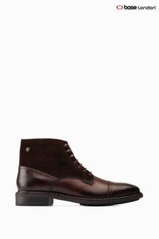 Base London® Brown Conrad Ankle Biker Boots