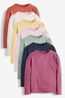 7 Pack Long Sleeve T-Shirts (3-16yrs)