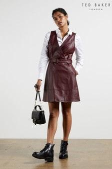 שמלתמעטפתמעורשלTed Baker דגםPalmaraעם צווארוןטי וחגורה
