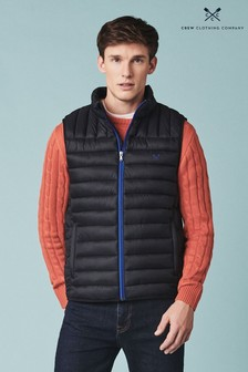 Crew Clothing Company Black Lightweight Lowther Gilet