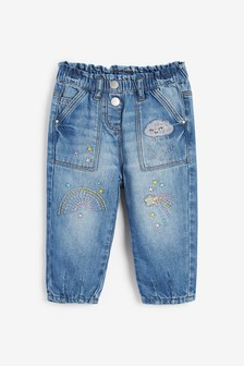 Rainbow Pull-On Jeans (3mths-7yrs)