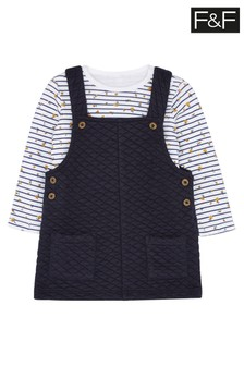 F&F Navy Quilted Pinny