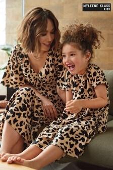 Myleene Klass Kinder Bedrucktes Kleid mit abgestuftem Design