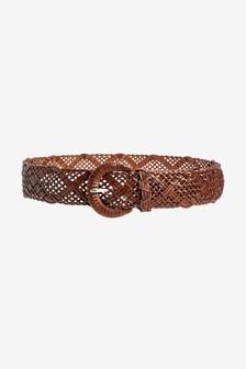 Wide Weave Waist Belt