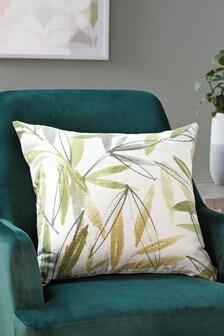 Tropical Palm Print Cushion Cover