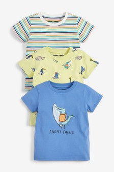 3 Pack Crocodile T-Shirts (3mths-7yrs)