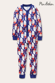 Boden Blue Cosy Sleep All-In-One Pyjamas