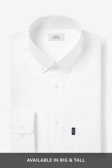 חולצת אוקספורד עם כפתורים לגיהוץ קל