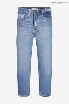 Tommy Hilfiger 2004高腰滾邊紅色仿舊牛仔褲